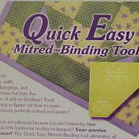 Quick and Easy Mitered Binding Tool, Quilting, Sewing, Crafts