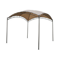 10Ft x 10Ft Dome Top Gazebo Shade Tent with Khaki Canopy