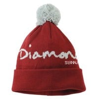 Diamond Supply Co OG Script Pom Beanie - Men's at CCS