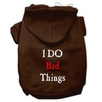 I Do Bad Things Screen Print Pet Hoodies Brown M (12)