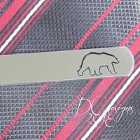 Polar Bear, Animal, Personalised Gift, Personalized Tie Bar, Tie Clip, Gift for Him, Custom Tie Clip, Engraved Tie Bar, Brother Gift
