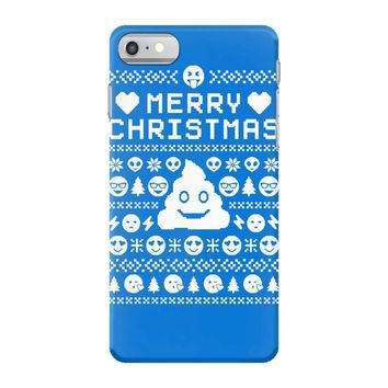funny ugly christmas smiley emoticon iPhone 7 Case
