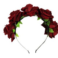 PanDaDa Women Fascinators Flowers Hairband Branch Wedding Wreath Headband Cr...