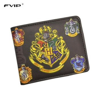 FVIP Wallet  Harry Potter /Sherlock Holmes /Breaking Bad /Superman /Walking Dead With Small Zipper Coin Pocket Men's Wallet