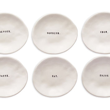 Rae Dunn Eating Dishes, Set of 6