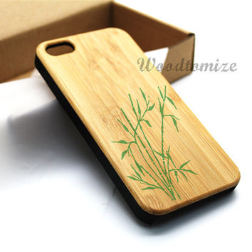 Wood print Bamboo case, Real wood, iPhone 5C case, iPhone 5S 5 case, Bamboo, Cherry wood, Sapele wood, FREE screen protector