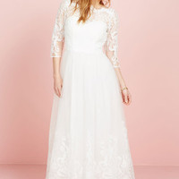 Sophisticated Ceremony Maxi Dress in White | Mod Retro Vintage Dresses | ModCloth.com