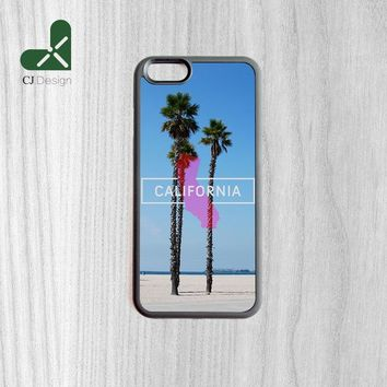 Hot Sale Los Angeles Beautiful Beach California Palm Trees Protective Back Cover For iPhone 6 6s Mobile Phone Shell