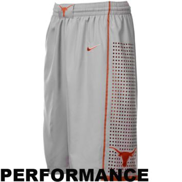 Nike Texas Longhorns Gray Aerographic Players Performance Basketball Shorts