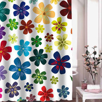 flower shower curtain adorabel batheroom hane made