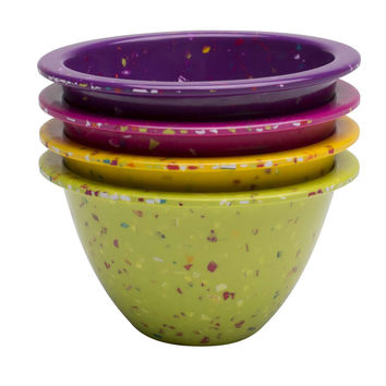 Confetti 4-piece Prep Bowl Set - Assorted Flora