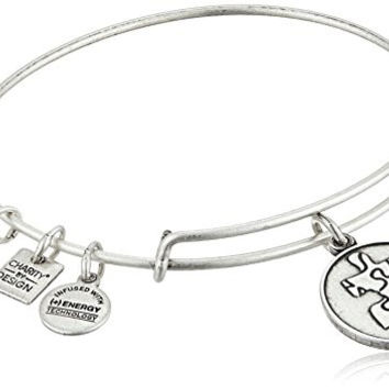 Alex and Ani Charity By Design Piece of The Puzzle National Autism Association Rafaelian Silver Bangle Bracelet