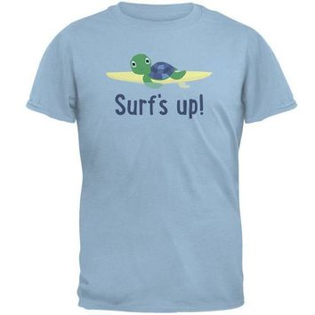 CREYCY8 Sea Turtle Surf's Up Summer Cute Mens T Shirt