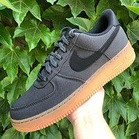 Nike Air Force 1 woven stitching vintage casual sneakers shoes