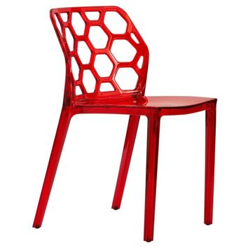 Cove Transparent Red Dining Chair   Overstock.com Shopping - The Best Deals on Dining Chairs