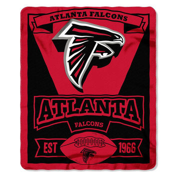 Atlanta Falcons NFL Light Weight Fleece Blanket (Marque Series) (50inx60in)
