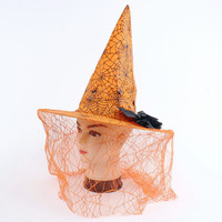 Hot Deal On Sale Halloween Witch Hats Headwear Masquerade Props [6676682183]