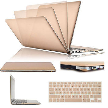 High Quality NEW Matte Case Rubberized Case + US Version Keyboard Cover For Apple Macbook 11/13/15 Air/Pro/Retina Shell