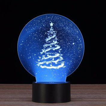 Snowy Sky Christmas Tree 3D LED Lamp