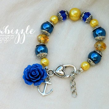 navy wife gifts, anchor bracelet, navy wife jewelry, navy anchor bracelet, USN bracelet, navy gifts