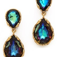 Large Crystal Clip On Earrings