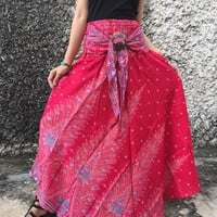 Gypsy Unique Maxi Skirt Dress Boho Bohemian Hippie Chic style Coconut Buckle Beach Summer Festival Coachella casual Mandala Women gift