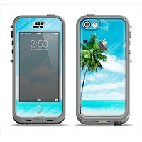The Paradise Beach Palm Tree Apple iPhone 5c LifeProof Nuud Case Skin Set