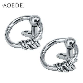 ac ICIKO2Q AOEDEJ 2017 New Circle Dermal Piercing Anchors Stainless Steel Double Hoop Punk Surface Retainers Hide It Jewelry Body Jewelry