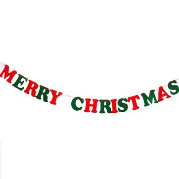 Christmas Decoration Home Bunting Banner Garland Props Flag
