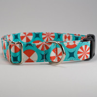 Peppermint Candy Christmas Handmade Dog Collar