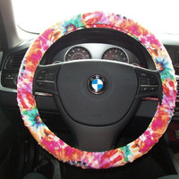 Tye Dye Steering Wheel Cover