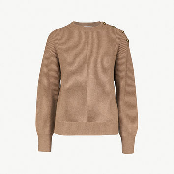 BRUNELLO CUCINELLI Button-detail ribbed cashmere sweater