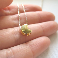 Sterling Silver Necklace With Gold.. on Luulla