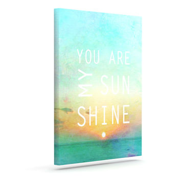 "Alison Coxon ""You Are My Sunshine"" Outdoor Canvas Wall Art"