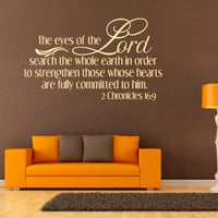 Spiritual Wall Decal. The Eyes Of The Lord Search - CODE 092