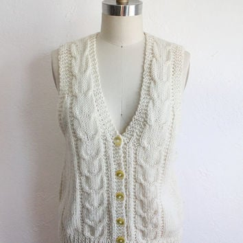 Shop Cable Knit Sweater Vest on Wanelo