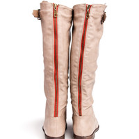 Back Zipper Riding Boots
