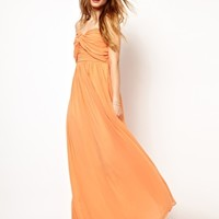 Jarlo Pleated Bandeau Maxi Dress at asos.com