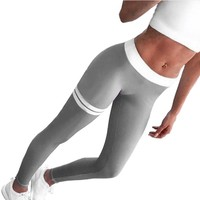 Women's Patchwork Leggings Sports Pant Gym Yoga Sportswear Workout Pants Fitness Running Jogging Cropped Trousers Mayy17