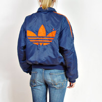 90s ADIDAS Oldschool Bomber Jacket / Big Logo Unisex Hip Hop Outerwear / Men Size M / Women Size L - XL