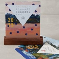 Eco Wonders 2015 Desk Calendar by Anthropologie Multi One Size Office