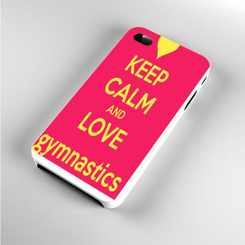 keep calm and love gymnastics iPhone 4s Case