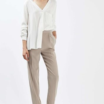 Satin Panel Tapered Trousers - New In This Week - New In