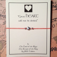 Lord of the Rings Inspired Heart Charm Bracelet | Tolkien Quote | Bracelet with Card | Friendship Bracelet