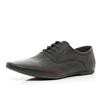 River Island Boys brown smart lace up shoe