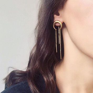 Alloy Tassels Hot Sale Earrings [9377833543]