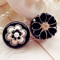 Cute Flower Contact lens Travel Case Contact Lens Kit