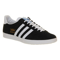 Adidas Gazelle Og Black White Metallic Gold - Unisex Sports