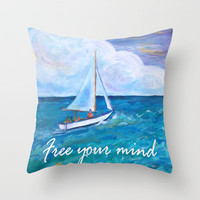 Gone Sailing Throw Pillow by gretzky | Society6