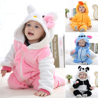 Newborn baby rompers Winter Autumn Spring Baby Boy Clothes Cartoon Animal Stitch shaped Jumpsuit Baby Girl Rompers Baby Clothes